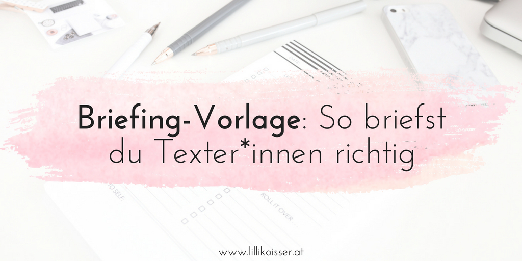 Texter-Briefing Vorlage