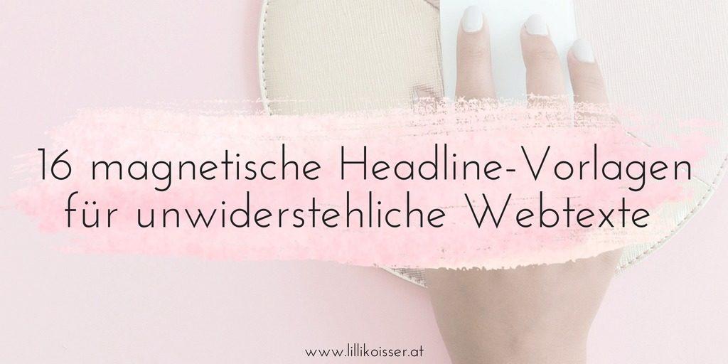 Headline-Vorlagen für Webtexte