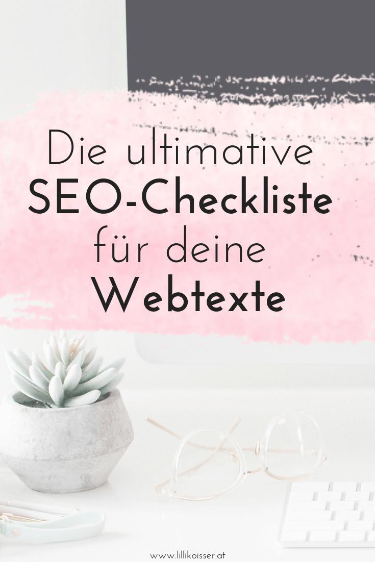 SEO-Checkliste für suchmaschinenoptimierte Webtexte