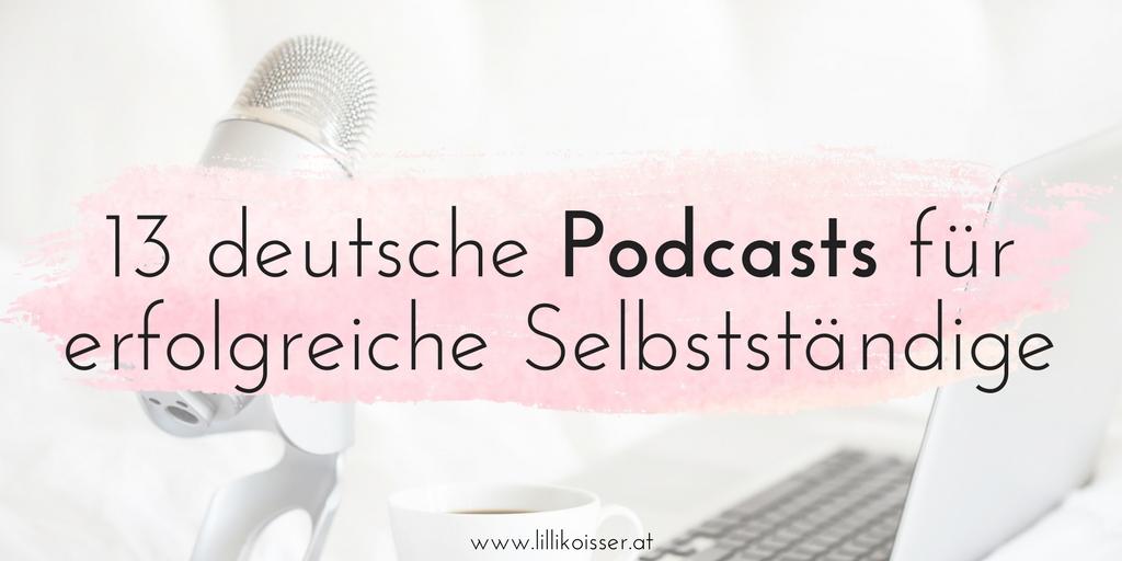 Deutsche Podcasts für Selbstständige