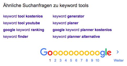Keyword-Tools Google