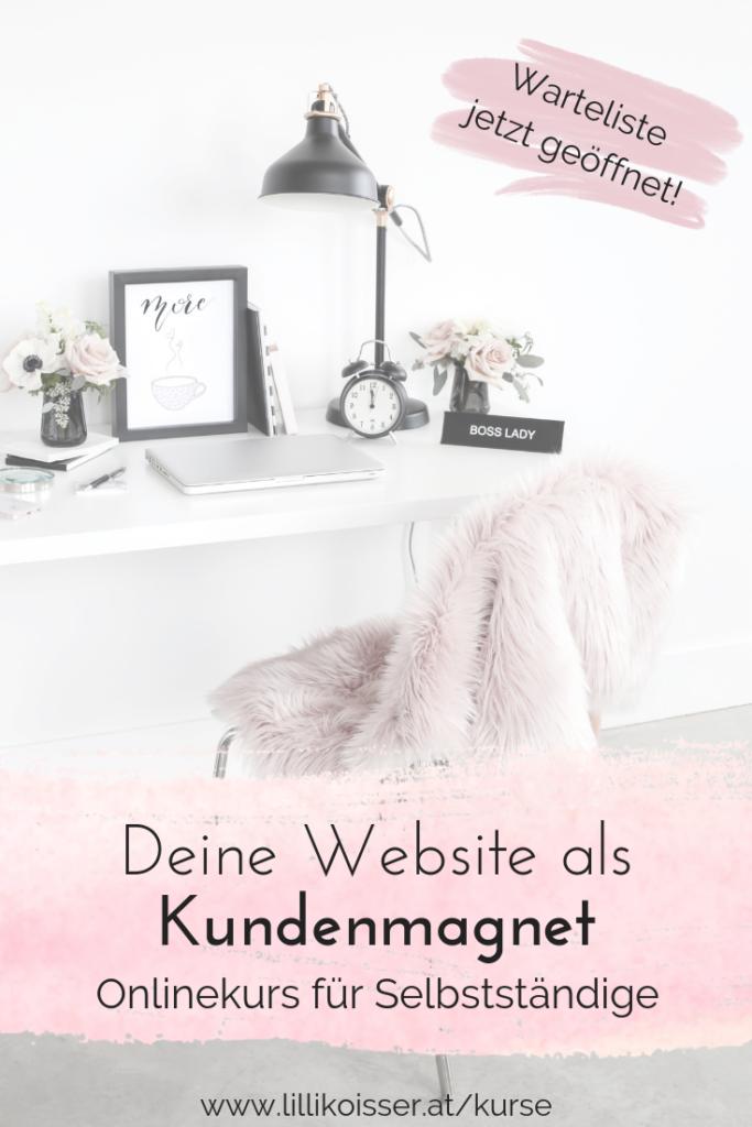 Deine Website als Kundenmagnet - Onlinekurs