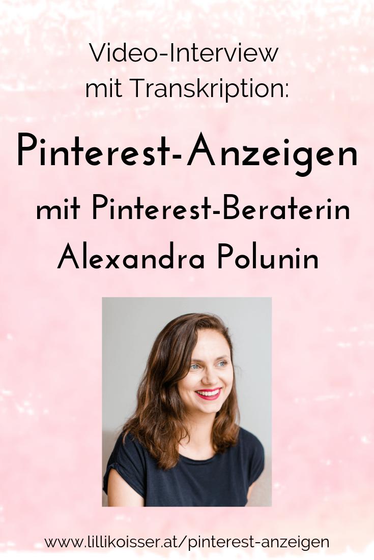 Pinterest-Anzeigen Alexandra Polunin