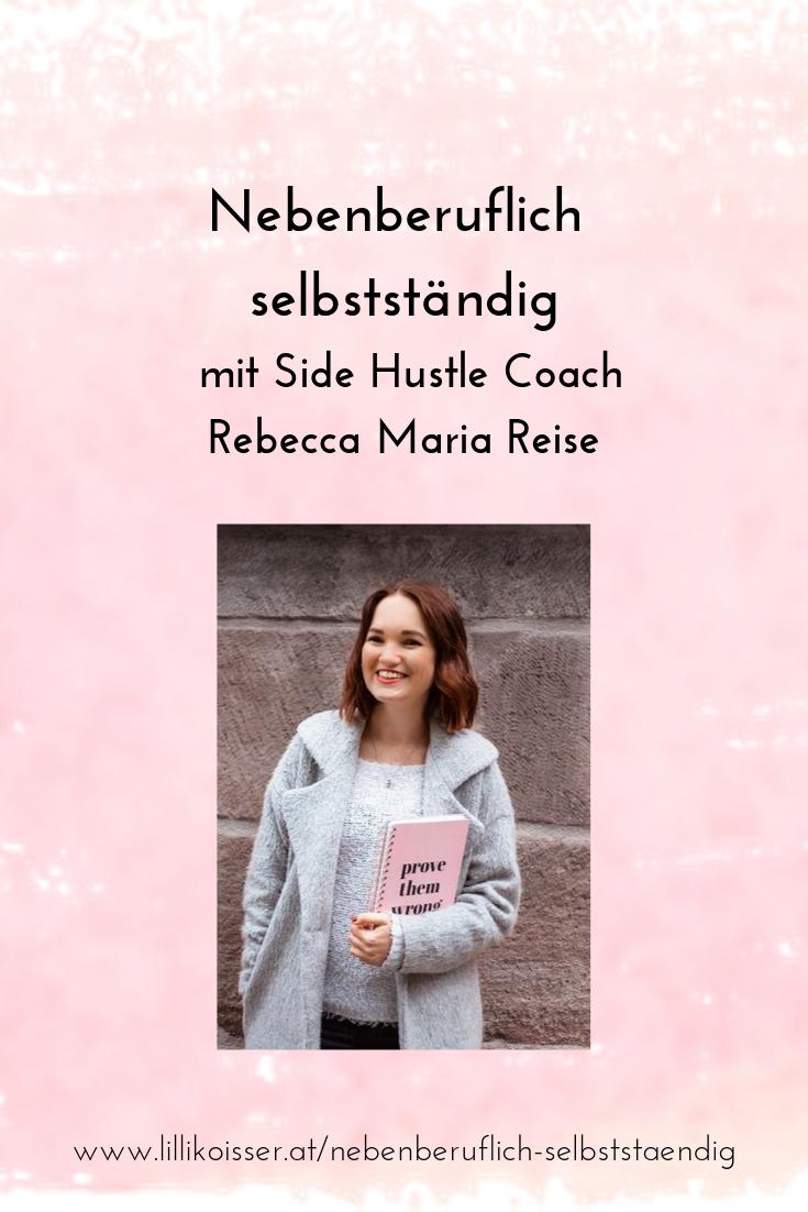 Nebenberuflich selbstständig mit Rebecca Maria Reise