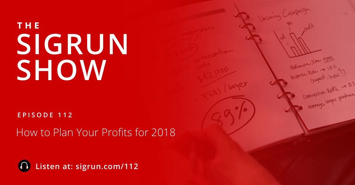 How to Plan Your Profits for the new year Sigrun Podcast