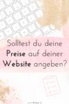 Warum du Preise auf deiner Website angeben solltest