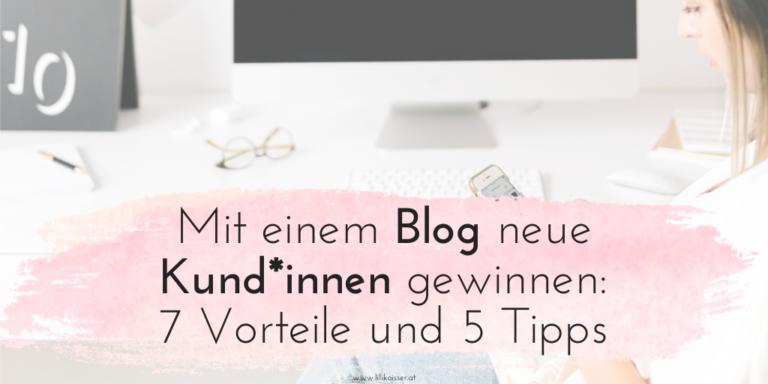 Mit einem Blog Kunden gewinnen