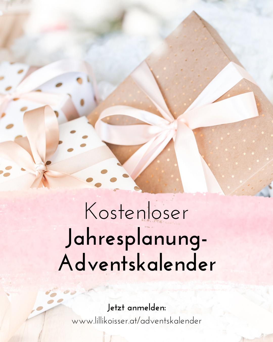 Kostenloser Jahresplanung-Adventskalender von Business-Coach Lilli Koisser