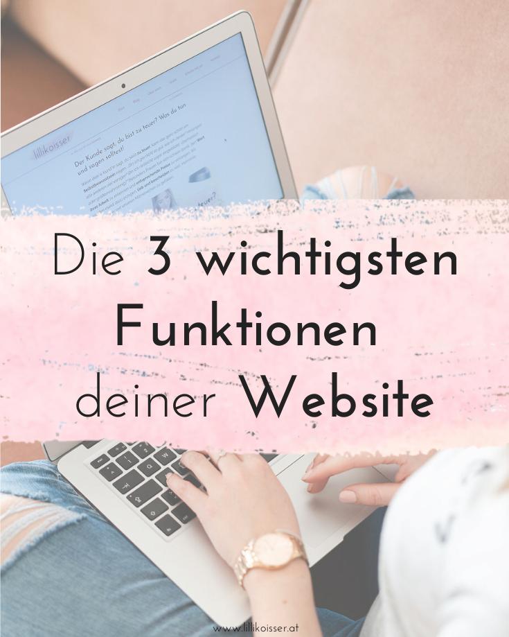 Die 3 wichtigsten Funktionen deiner Website